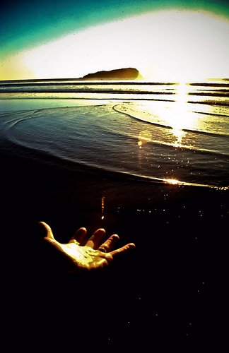 Hand At Sunrise