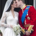 a photo of Prince William and his bride Catherine