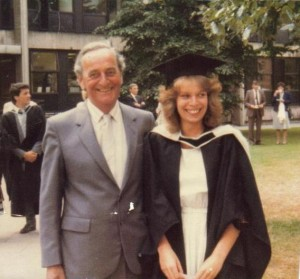 photo of Dad and I at my graduation