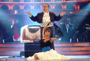 a phot of Russell Grant and partner Flavia in Strictly Come Dancing