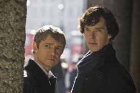 Benedict Cumberbatch and Martin Freeman in Sherlock Holmes