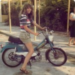 photo of me on a moped