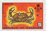 Cancer Maldives Stamp