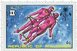 Gemini Maldives Stamp