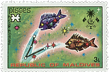Pisces Maldives Stamp