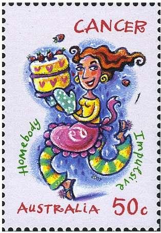 Cancer Zodiac Stamp