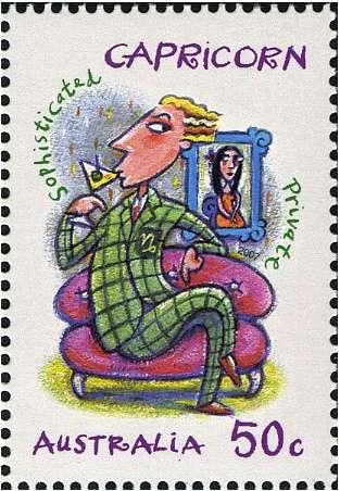 Capricorn Zodiac Stamp