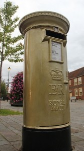 Gold Post Box Olympics 2012