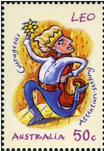 Leo Zodiac Stamp