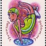 Scorpio Zodiac Stamp