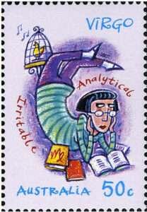 Virgo Zodiac Stamp