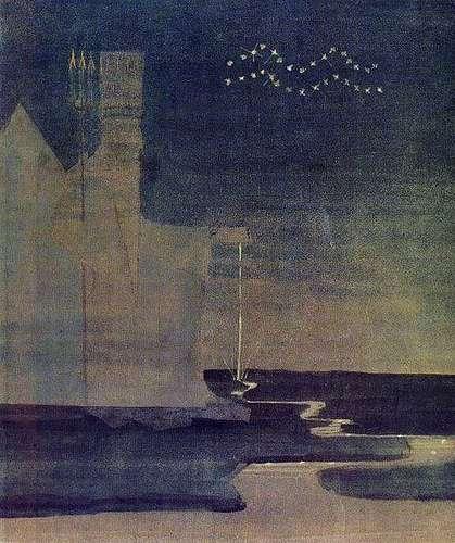 Aquarius Oil Painting