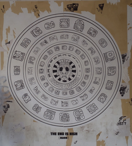 Mayan wheel showing mayan zodiac symbols