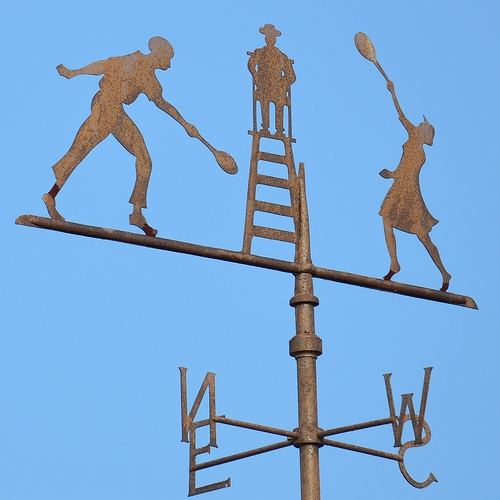 Tennis Weathervane