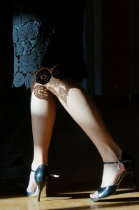 Legs of a tango dancer