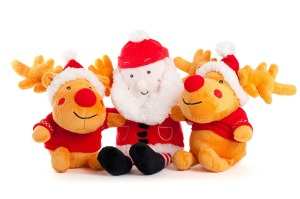 Cuddly Father Christmas & Reindeer