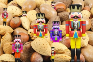 Nutcracker dolls and nuts