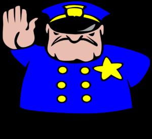 Policeman says Stop