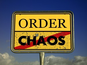 order, chaos crossed out
