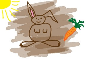 child's drawing of a rabbit