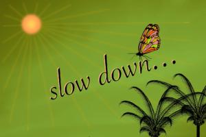 Mercury retrograde, slow down