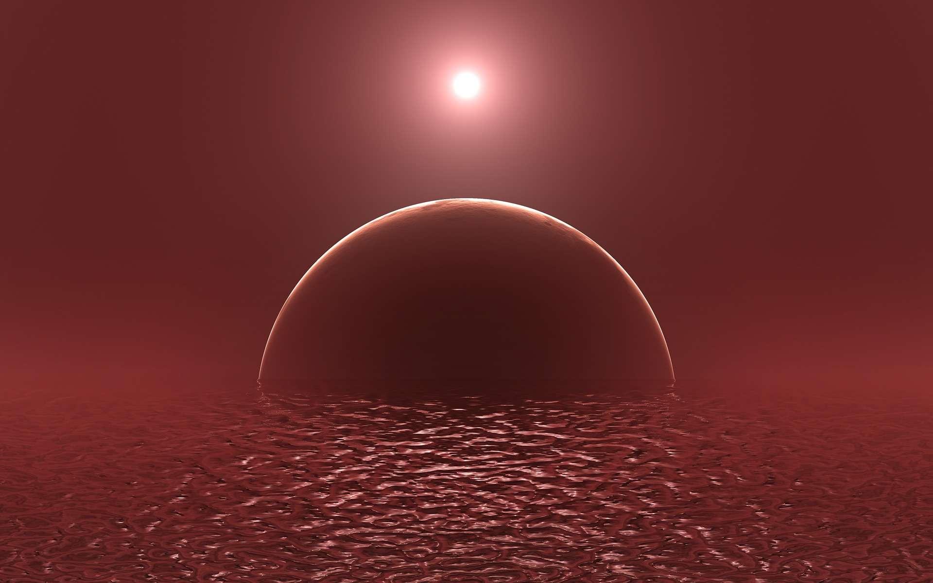 Lunar Eclipse, Mars