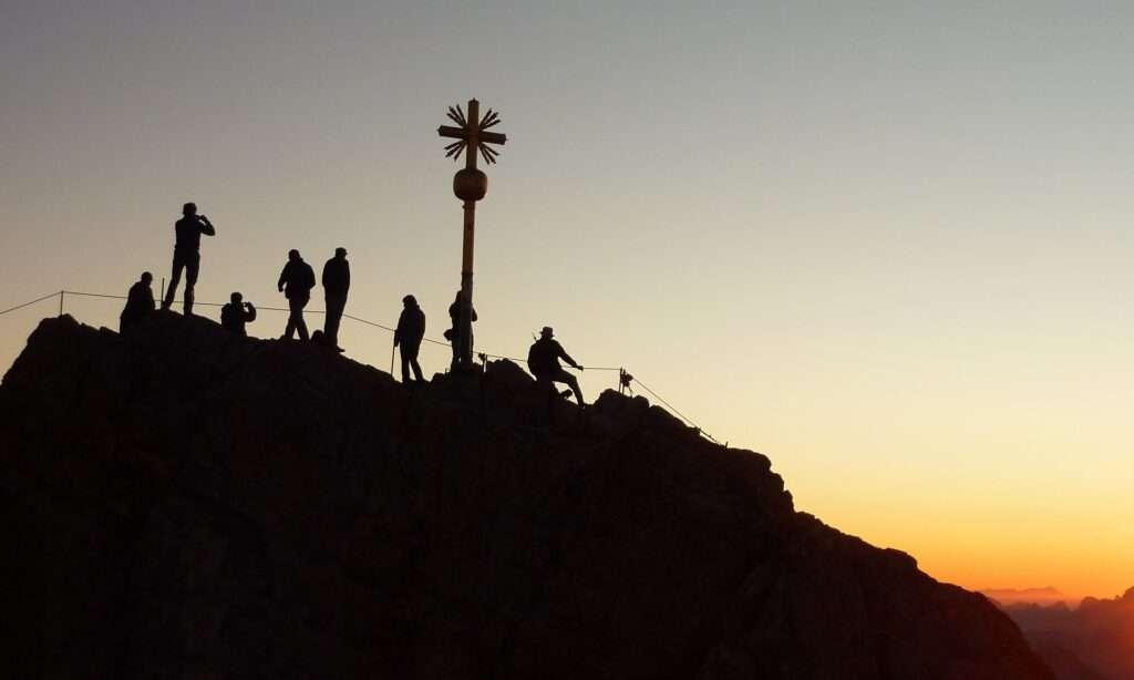 Capricorn, mountain top