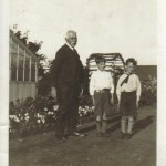 a photo of John Kirkman with his Grandad, 1932