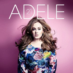 photo of Adele on her album cover 21