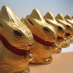 photo of chocolate Lindt bunnies
