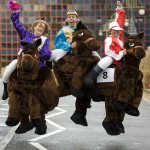 photo of winners of the Pantomime Horse Grand National