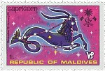 Capricorn Maldives Stamp
