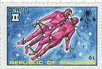 Gemini Maldives Stamp