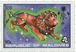 Leo Maldives Stamp