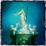 Neptune, God of the Sea, with cherubs