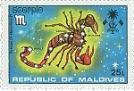 Scorpio Maldives Stamp