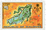 Virgo Maldives Stamp