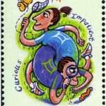 Gemini Zodiac Stamp