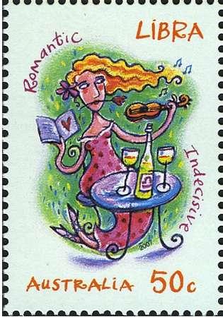 Libra Zodiac Stamp