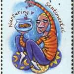 Pisces Zodiac Stamp