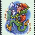 Sagittarius Zodiac Stamp