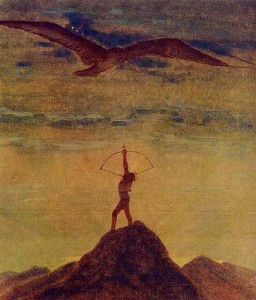Sagittarius Oil Painting