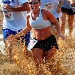 Woman racing