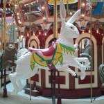 bunny ride on a carousel