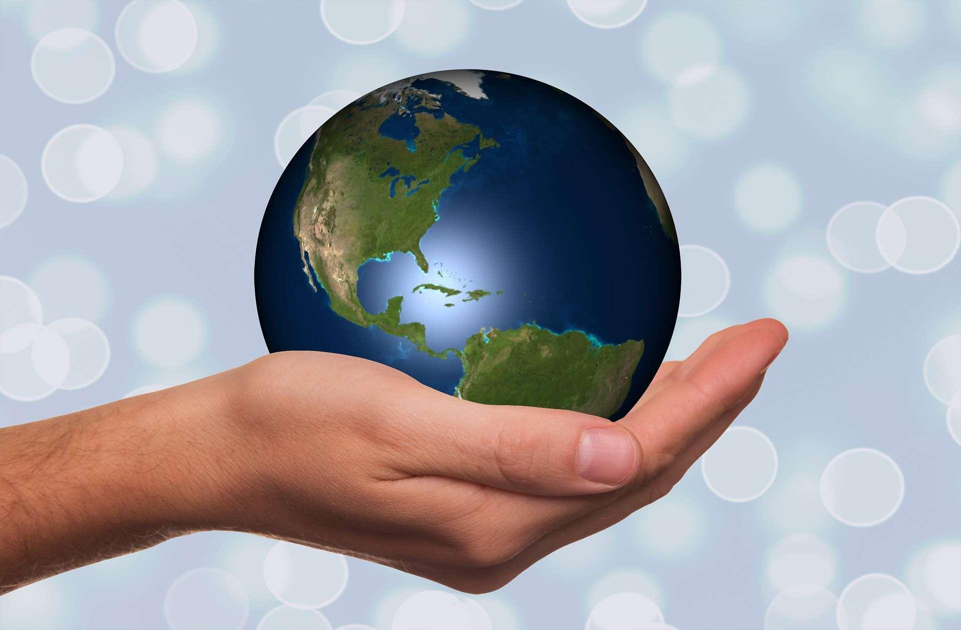 hand, earth