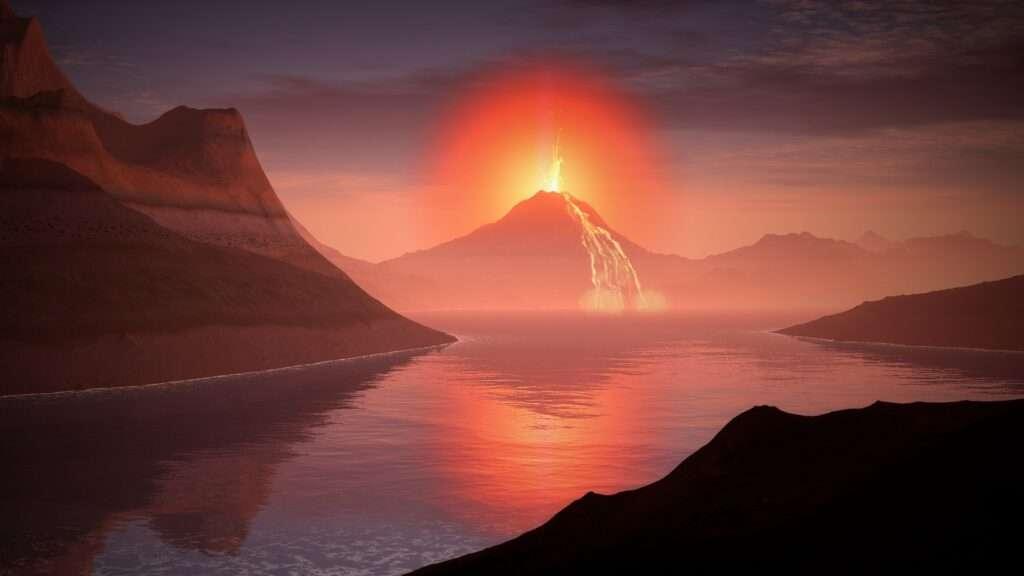 volcano, New Moon