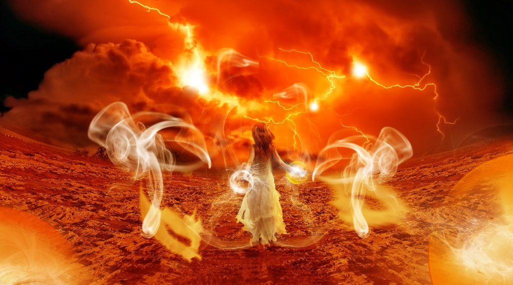 Mars conjunct Uranus, fire