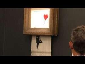 Banksy shredded painting