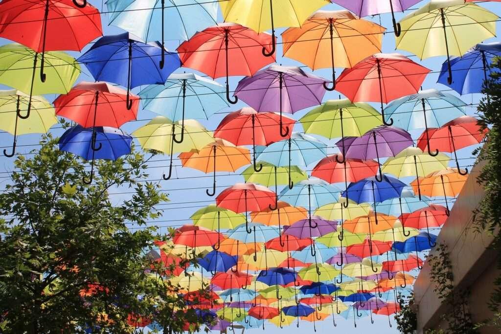 Scorpio, umbrellas