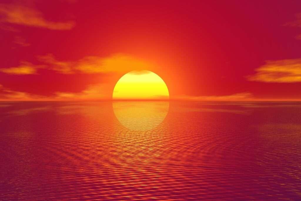 Leo, sunset